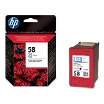 HP C6658AE Ink Cart No.58 pro DJ 3650,5550, PS 7x50, Photo Color (C6658AE)