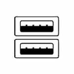 OEM USB 2.0 kabel A-A propojovací 1,8m