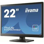 22 IIYAMA E2280WSD-B1 / 5ms / 250cd-m2 / 16:10 / 1000:1 / VGA / DVI / repro / černý (E2280WSD-B1)