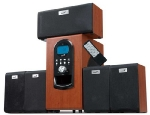 Genius repro SW-HF 5.1 6000, 200W RMS, LCD displej, dark wood (31730022101)