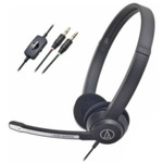 AUDIO-TECHNICA ATH-330COM / headset / 3,5 mm jack / kabel 2 m / černý (ATH-330COM)