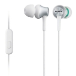 SONY MDR-EX450AP / Sluchátka do uší s mikrofonem / Bílá (MDREX450APW.CE7)