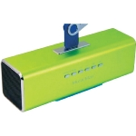 Technaxx MusicMan / Přenosný reproduktor / 600 mAh / FM radio / USB / microSD až 32GB / 8h / zelený (3433)