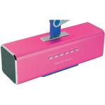 Technaxx MusicMan / Přenosný reproduktor / 600 mAh / FM radio / USB / microSD až 32GB / 8h / Růžová (3432)