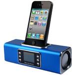 Technaxx MusicMan BTX1 / Přenosný Bluetooth Stereo reproduktor / 600 mAh / Displej / USB / až 12h / Modrý (3802)