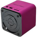 Technaxx Mini MusicMan X2 / Přenosný reproduktor / baterie 600 mAh / USB / microSD / až 8h / Růžová (3531)