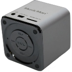 Technaxx Mini MusicMan X2 / Přenosný reproduktor / baterie 600 mAh / USB / microSD / až 8h / Stříbrná (3528) - Technaxx Mini MusicMan (352x)