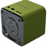 Technaxx Mini MusicMan X2 / Přenosný reproduktor / baterie 600 mAh / USB / microSD / až 8h / Zelená (3529)