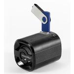 Technaxx Mini MusicMan Grenade X4 / Přenosný reproduktor / 600 mAh / FM / USB + microSD / až 11h / černá (4233)