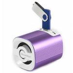 Technaxx Mini MusicMan Grenade X4 / Přenosný reproduktor / 600 mAh / FM / USB + microSD / až 11h / Fialová (4236)