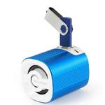 Technaxx Mini MusicMan Grenade X4 / Přenosný reproduktor / 600 mAh / FM / USB + microSD / až 11h / Modrá (4234)