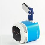 Technaxx Mini MusicMan Makro X6 / Přenosný reproduktor / 600 mAh / FM / USB + microSD / až 11h / Modrá (4244)