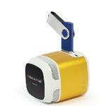 Technaxx Mini MusicMan Makro X6 / Přenosný reproduktor / 600 mAh / FM / USB + microSD / až 11h / Zlatá (4247)