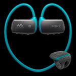 Sony sportovní MP3 přehrávač / 4GB / Vodotěsný do 2m max. 30min. / Bluetooth / NFC / modrá (NWZWS613L.CEW)