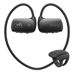 Sony sportovní MP3 přehrávač / 16GB / Vodotěsný do 2m max. 30min. / Bluetooth / NFC / až 8 hodin / černá (NWZWS615B.CEW)