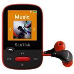 SanDisk Clip Sport 4GB / MP3 Přehrávač / LCD 1.44 / microSDHC / micro USB / rádio / červený (SDMX24-004G-G46R)