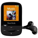 SanDisk Clip Sport 8GB / MP3 Přehrávač / LCD 1.44 / microSDHC / micro USB / rádio / černý (SDMX24-008G-G46K)