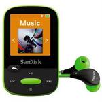 SanDisk Clip Sport 8GB / MP3 Přehrávač / LCD 1.44 / microSDHC / micro USB / rádio / zelený (SDMX24-008G-G46L)