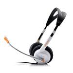 CANYON CNR-HS11NA / sluchátka s mikrofonem / 2.4m / 3.5mm jack / Bílá (CNR-HS11NA)