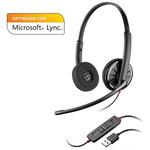 Plantronics BLACKWIRE C320-M / náhlavní souprava na obě uši se sponou / Microsoft / USB / černá (85619-01)