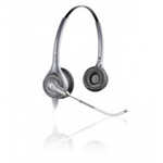 Plantronics SupraPlus HW361 / náhlavní souprava na obě uši se sponou / USB / stříbrná (82312-41)