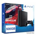 SONY PlayStation 4 - 500GB Slim Black CUH-2016A + DRIVECLUB (PS719814511)
