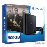SONY PlayStation 4 - 500GB Slim Black CUH-2016A + The Order: 1886 (PS719815914)