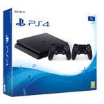 SONY PlayStation 4 - 1TB slim Black CUH-2016B + 2x Dualshock (PS41TBCDS4EAS.YS)