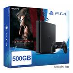 SONY PlayStation 4 - 500GB Slim Black CUH-2016A + Metal Gear Solid V: The Phantom Pain (PS719803843)