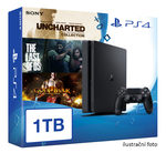 SONY PlayStation 4 - 1TB Black CUH-1216B + Uncharted Collection + The Last of Us + God of War 3