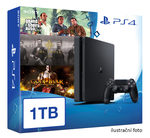 SONY PlayStation 4 - 1TB slim Black CUH-2016B + GTA V + The Order + God of War 3 Remastered (PS4.bigpack.GTA.Order.GOW3)