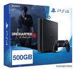 SONY PlayStation 4 - 500GB Slim Black CUH-2016A + Uncharted 4: A Thief's End (PS4.500.Uncharted4)