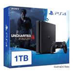 SONY PlayStation 4 - 1TB slim Black CUH-2016B + Uncharted 4: A Thief's End bundle (PS4.1TB.Unch4)