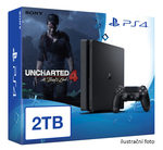 SONY PlayStation 4 - 2TB slim Black CUH-2016 + Uncharted 4: A Thief's End (PS4.2TB.Unch4)