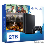 SONY PlayStation 4 - 2TB slim Black CUH-2016 + GTA V + The Order + God of War 3 Remastered (PS4.2TB.big.GTA.Order.GOW3)