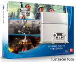 SONY PlayStation 4 - 1TB White CUH-1216A + GTA V + The Order + God of War 3 Remastered (PS4W.1TB.big.GTA.Order.GOW3)