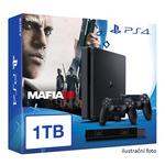 SONY PlayStation 4 - 1TB slim Black CUH-2016B + Mafia III + camera + 2x Dualshock (PS4.bigpack.MafiaIII)