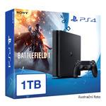 SONY PlayStation 4 - 1TB slim Black CUH-2016B + Battlefield 1 + camera + 2x Dualshock (PS4.bigpack.Battlefield1)