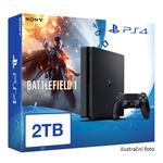 SONY PlayStation 4 - 2TB slim Black CUH-2016 + Battlefield 1 (PS4.2TB.Battle1)
