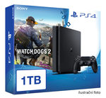 SONY PlayStation 4 - 1TB slim Black CUH-2016B + Watch Dogs 2 (PS4.1TB.WD2)