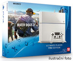 SONY PlayStation 4 - 1TB White CUH-1216A + Watch Dogs 2 (PS4W.1TB.WD2)