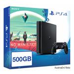 SONY PlayStation 4 - 500GB Slim Black CUH-2016A + No Man's Sky (PS4b.NMS)