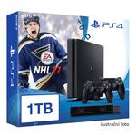 SONY PlayStation 4 - 1TB slim Black CUH-2016B + NHL 2017 + camera + 2x Dualshock (PS4-1TB.bigpack.NHL17)