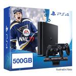 SONY PlayStation 4 - 500GB Slim Black CUH-2016A + NHL 2017 + camera + 2x Dualshock (PS4b.bigpack.NHL17)