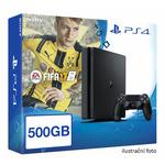 SONY PlayStation 4 - 500GB Slim Black CUH-2016A + FIFA 2017 (PS4b.FIFA17)