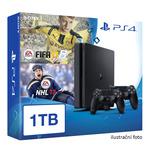 SONY PlayStation 4 - 1TB slim Black CUH-2016B + NHL 2017 + FIFA 2017 + 2x Dualshock (PS4-1TB.EA.NHL17.FIFA17)