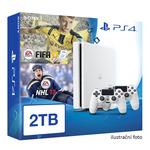 SONY PlayStation 4 - 2TB White CUH-2016 + NHL 2017 + FIFA 2017 + 2x Dualshock (PS4W.2TB.EA.NHL17.FIFA17)