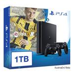 SONY PlayStation 4 - 1TB Slim Black CUH-2016B + FIFA 2017 + 2x Dualshock V.2 (PS4SL-1TB.FIFA17.2DS4)