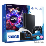 SONY PlayStation 4 - 500GB slim Black CUH-2016B + VR Worlds + PSVR + camera + 2x Move (PS4.500GB.VRWorld)