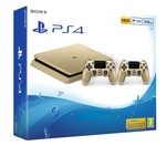 SONY PlayStation 4 - 500GB Slim Gold CUH-2016A + druhý DS4 ovladač gold / zlatý (PS719847960)